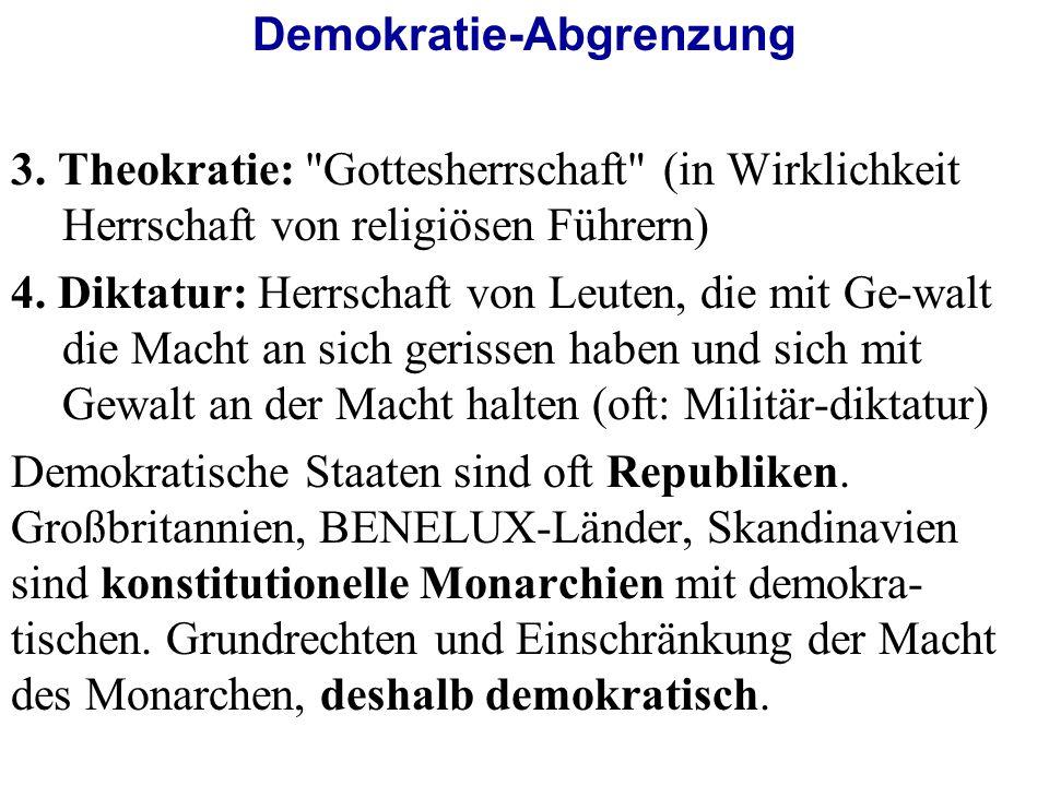 Demokratie-Abgrenzung 3.