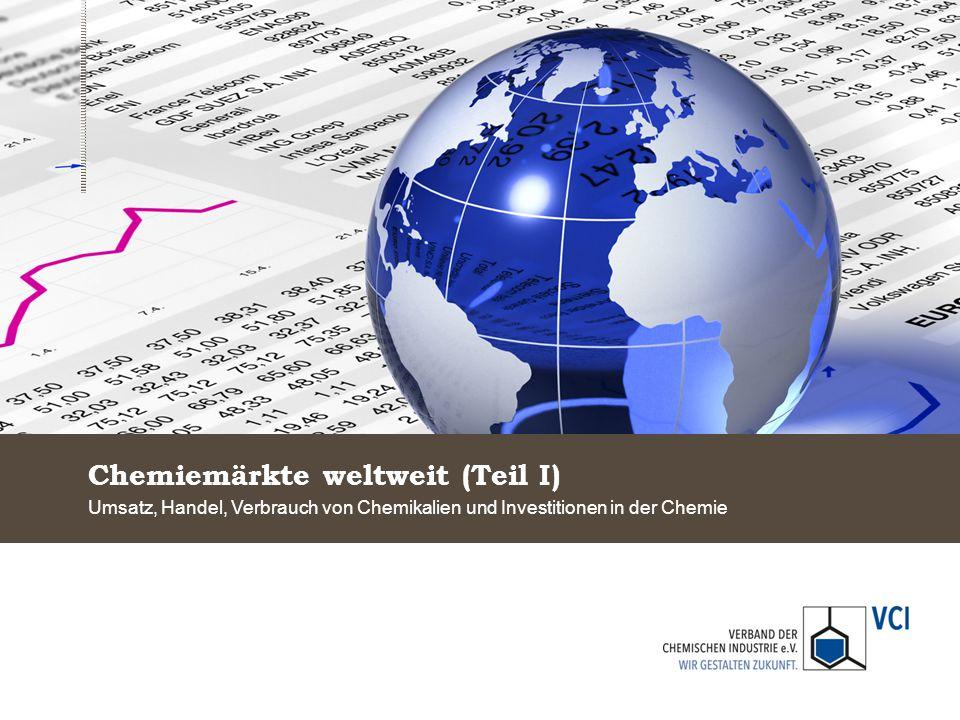 Chemiemärkte weltweit (Teil I) Umsatz, Handel, Verbrauch von Chemikalien und Investitionen in der Chemie
