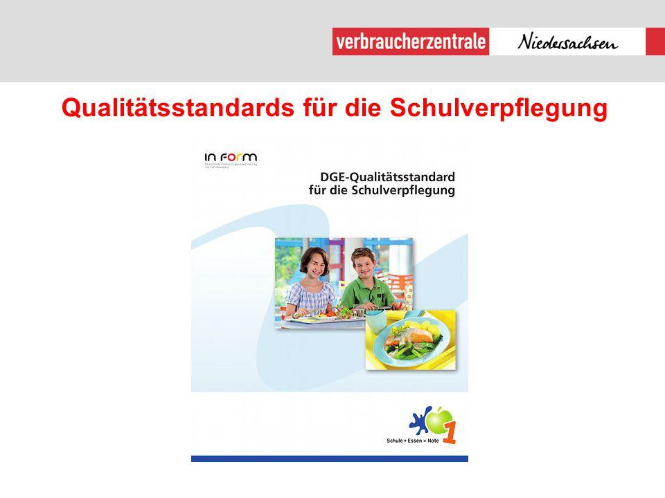 Qualitätsstandards für die Schulverpflegung