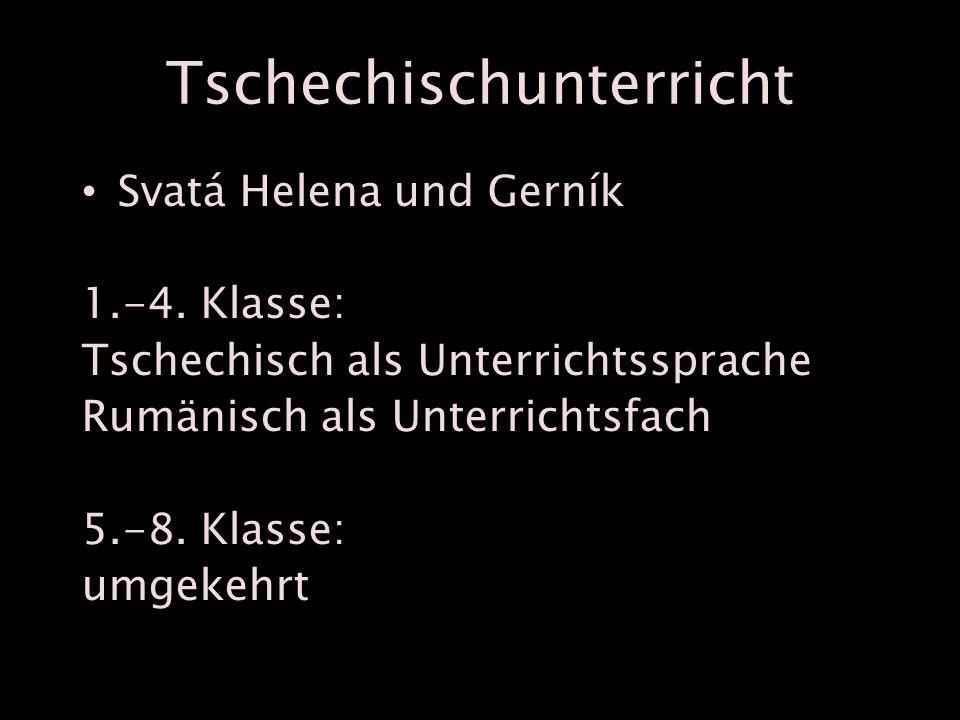 Tschechischunterricht Svatá Helena und Gerník 1.-4.
