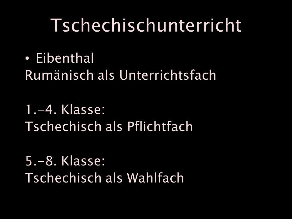 Tschechischunterricht Eibenthal Rumänisch als Unterrichtsfach 1.-4.