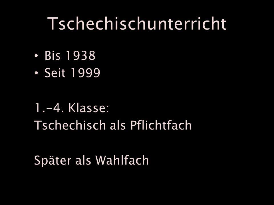 Tschechischunterricht Bis 1938 Seit 1999 1.-4.