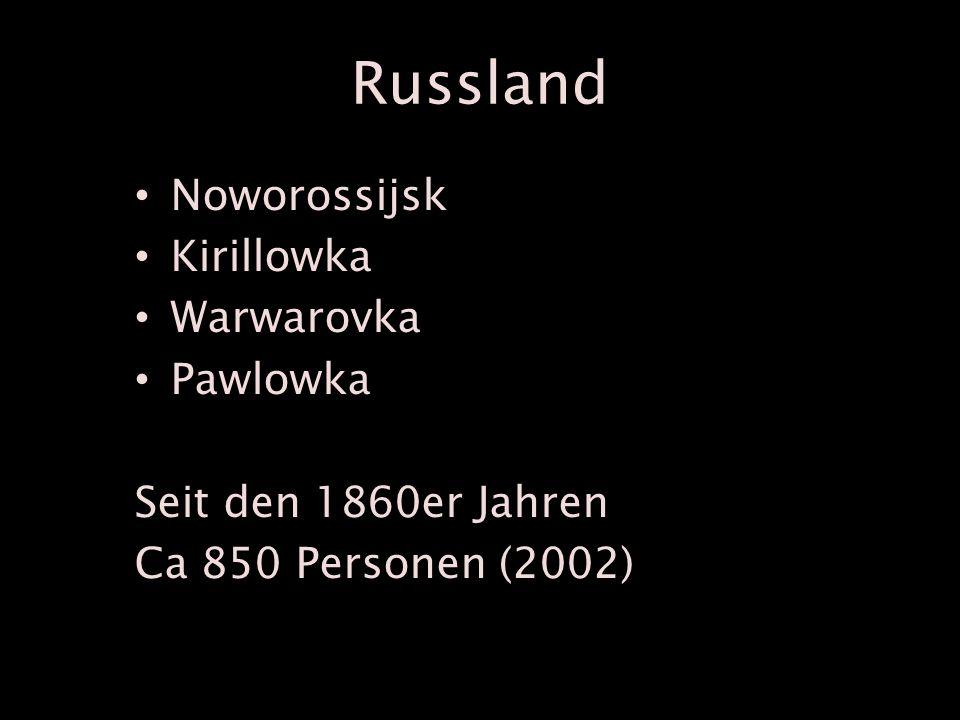 Russland Noworossijsk Kirillowka Warwarovka Pawlowka Seit den 1860er Jahren Ca 850 Personen (2002)