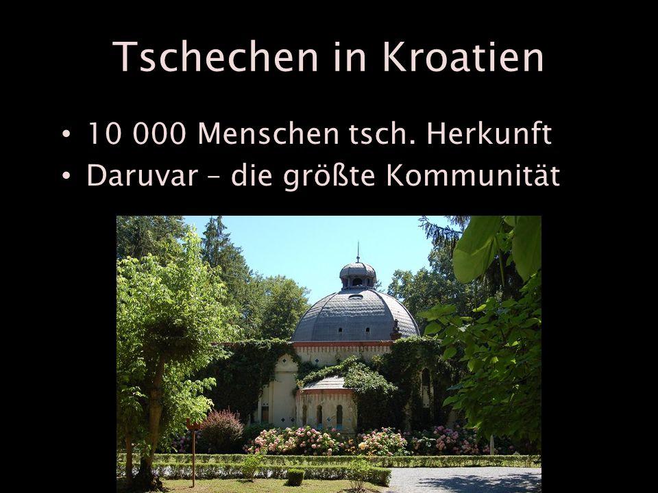 Tschechen in Kroatien 10 000 Menschen tsch. Herkunft Daruvar – die größte Kommunität