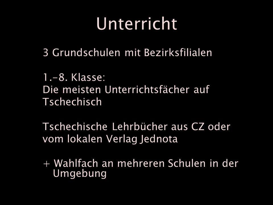 Unterricht 3 Grundschulen mit Bezirksfilialen 1.-8.
