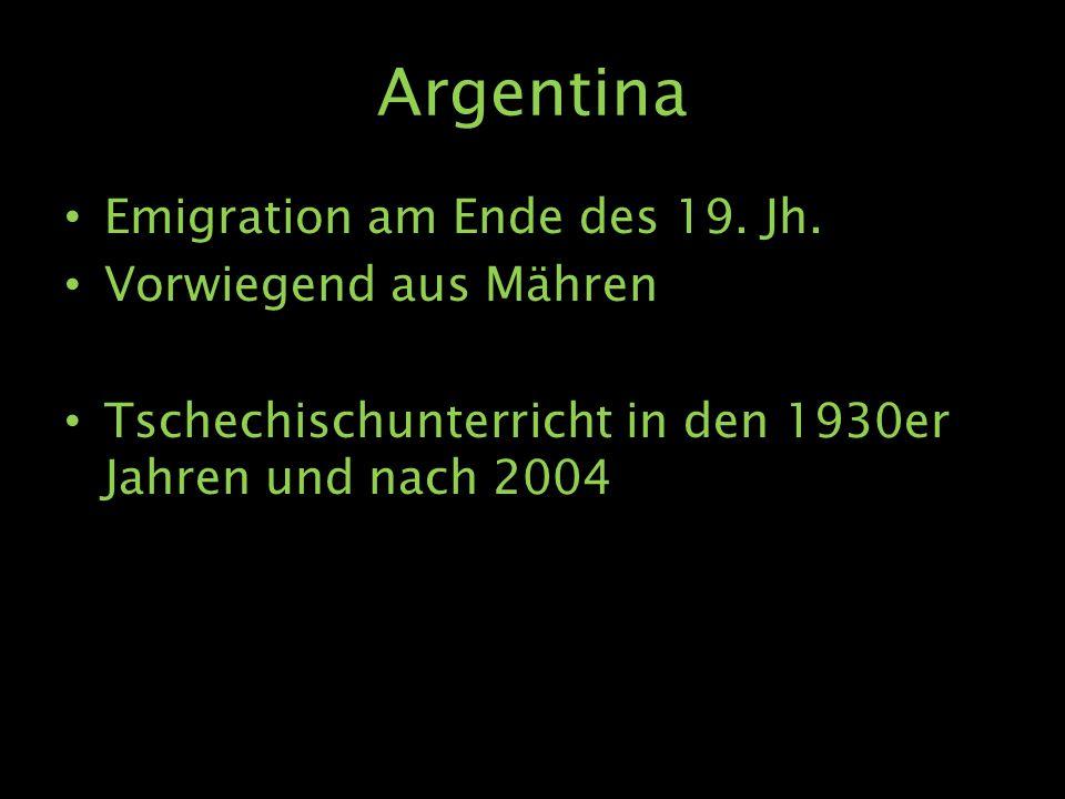 Argentina Emigration am Ende des 19. Jh.