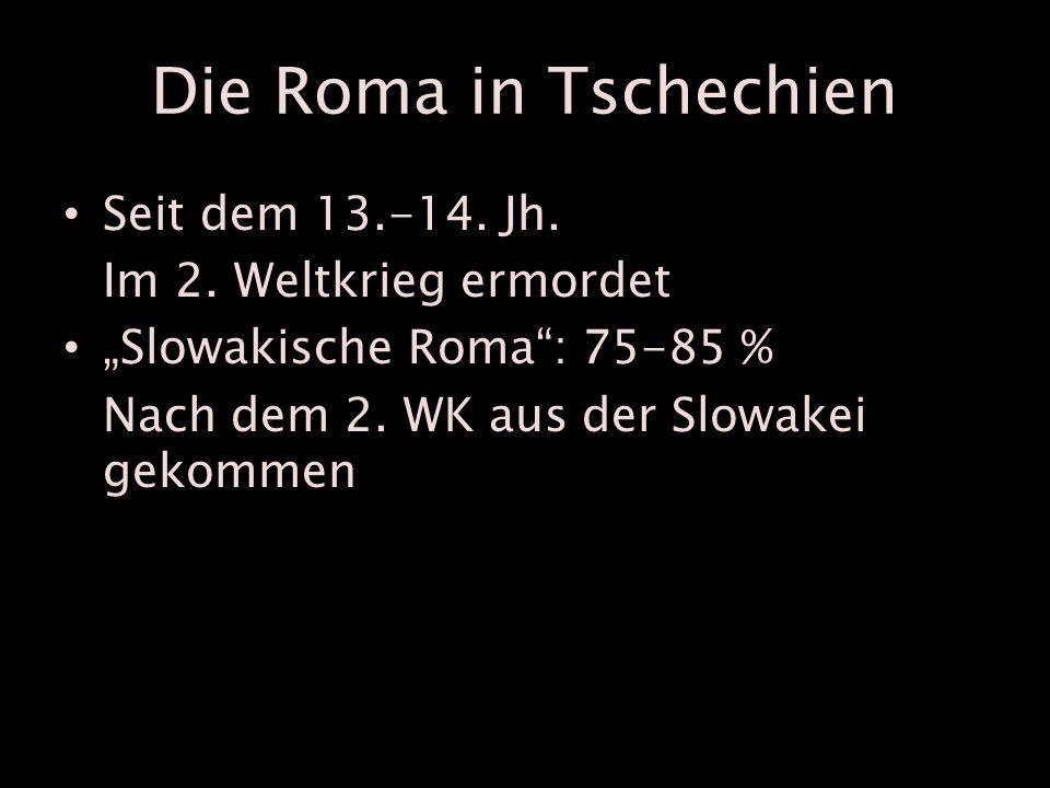 Die Roma in Tschechien Seit dem 13.-14. Jh. Im 2.