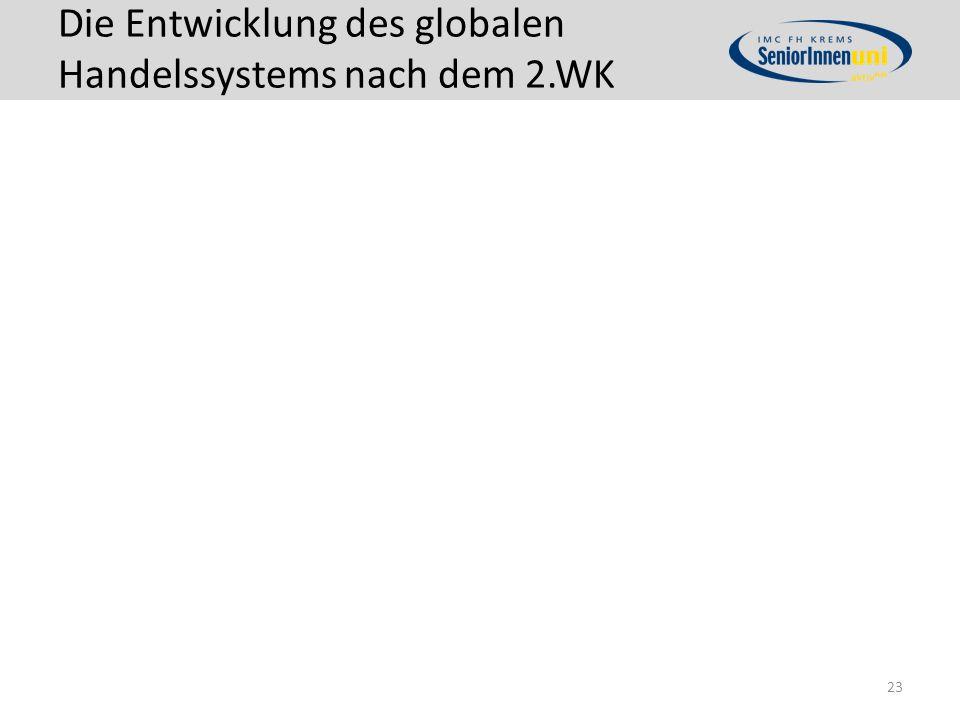 Die Entwicklung des globalen Handelssystems nach dem 2.WK 23