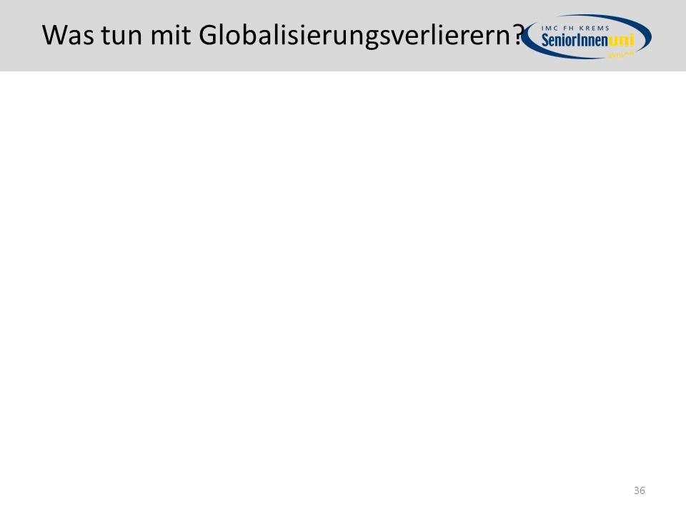 Was tun mit Globalisierungsverlierern? 36