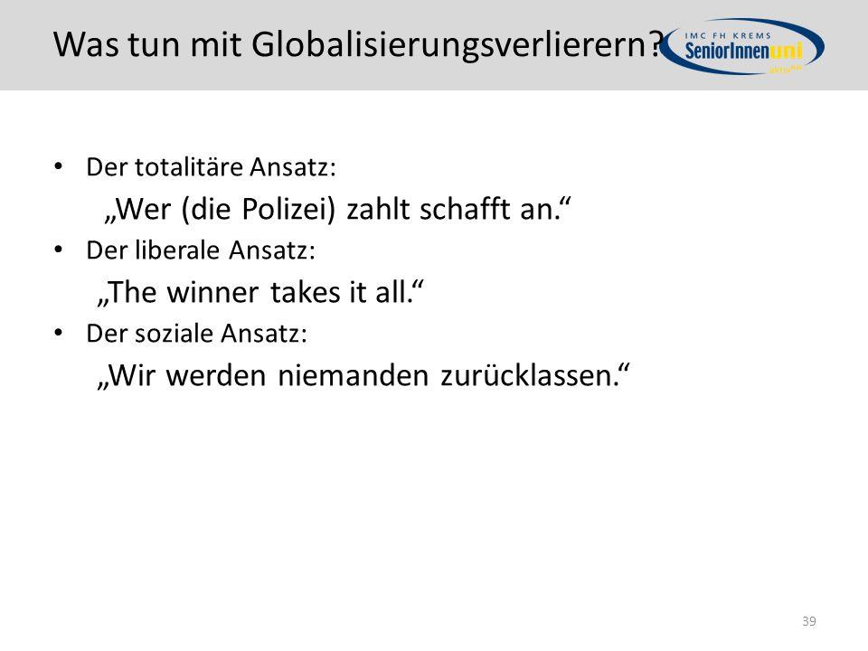Was tun mit Globalisierungsverlierern.