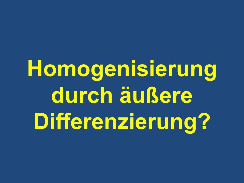 Homogenisierung durch äußere Differenzierung?