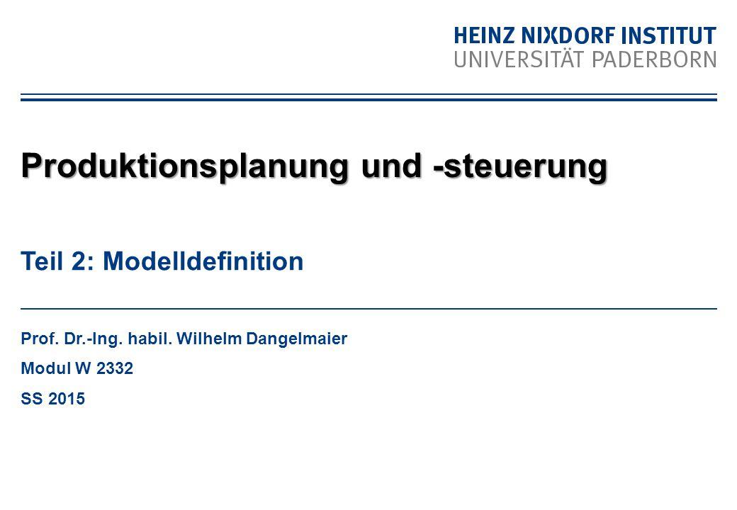 Auslauf mit Terminen und Fortschrittszahlen W2332-01: Produktionslogistik Modelldefinition - Zeit Zeitlich begrenzte Gültigkeit von Festlegungen