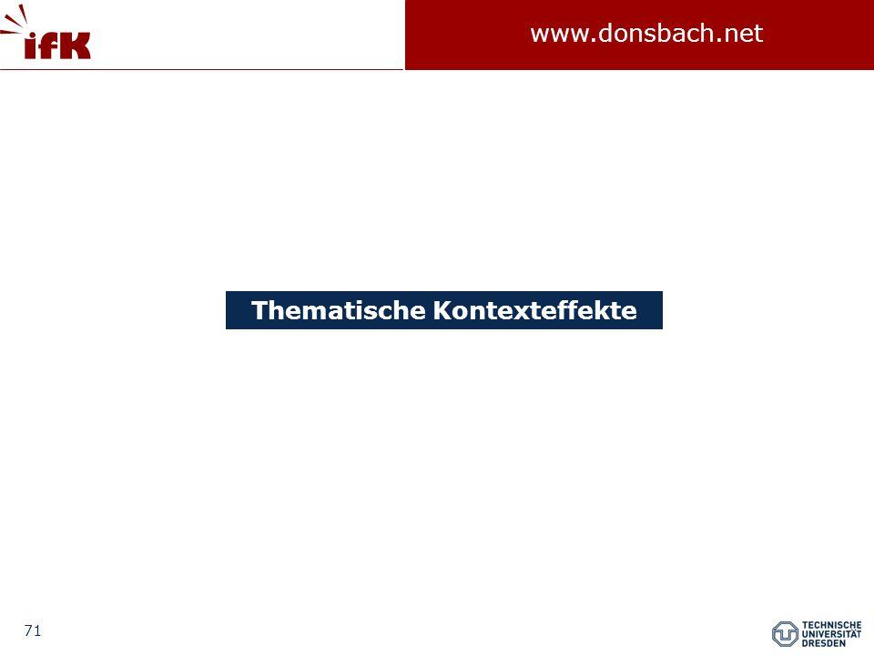 71 www.donsbach.net Thematische Kontexteffekte