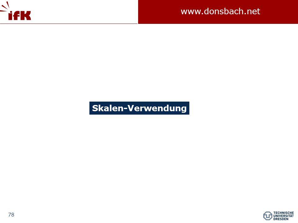 78 www.donsbach.net Skalen-Verwendung