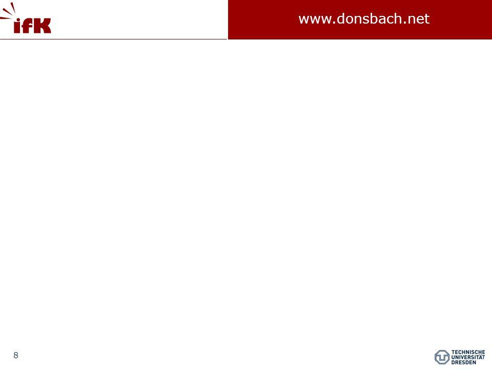 """59 www.donsbach.net Gliederung  Alltagsnähe als generelles Problem  Fehlerarten der Demoskopie  Fragebogen und Frageformen  Fragebogen ein sensibles Messinstrument  Einflüsse auf das Antwortverhalten  """"Kognitive Fragebogengestaltung  Verfahren der Evaluation von Fragebogen und Fragen  Regelwerke  Literatur"""