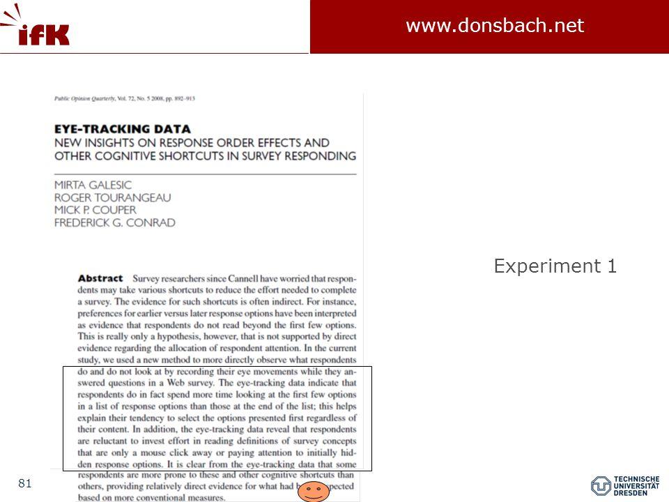 81 www.donsbach.net Experiment 1