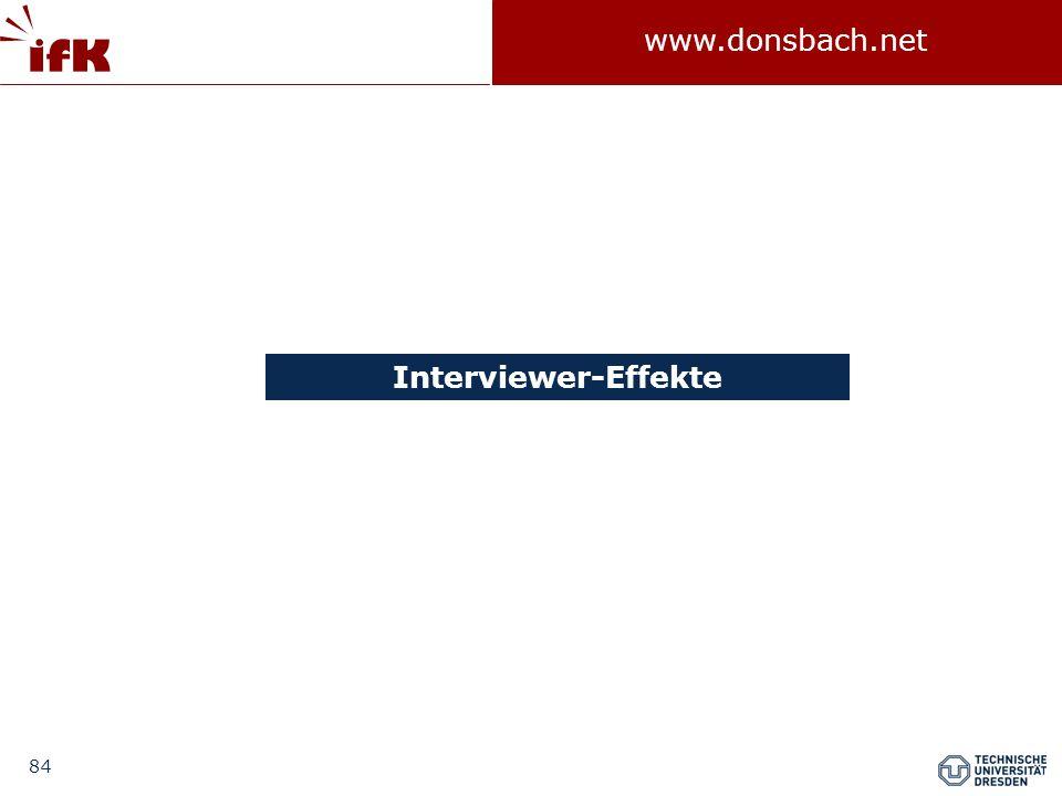 84 www.donsbach.net Interviewer-Effekte