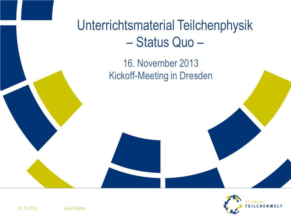 Unterrichtsmaterial Teilchenphysik – Status Quo – 16.