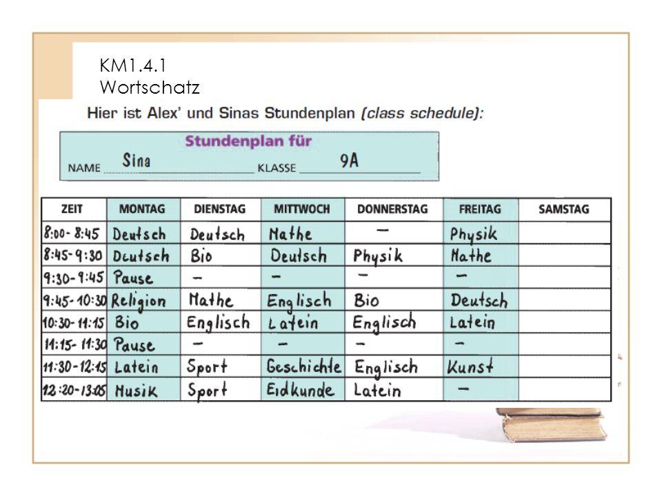 KM1.4.1 Wortschatz