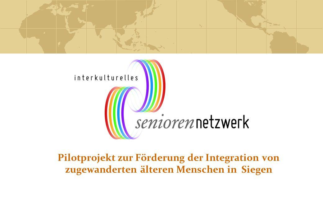 Pilotprojekt zur Förderung der Integration von zugewanderten älteren Menschen in Siegen