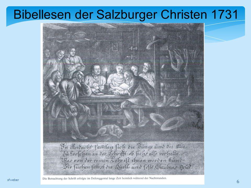 Bibellesen der Salzburger Christen 1731 sfweber 6