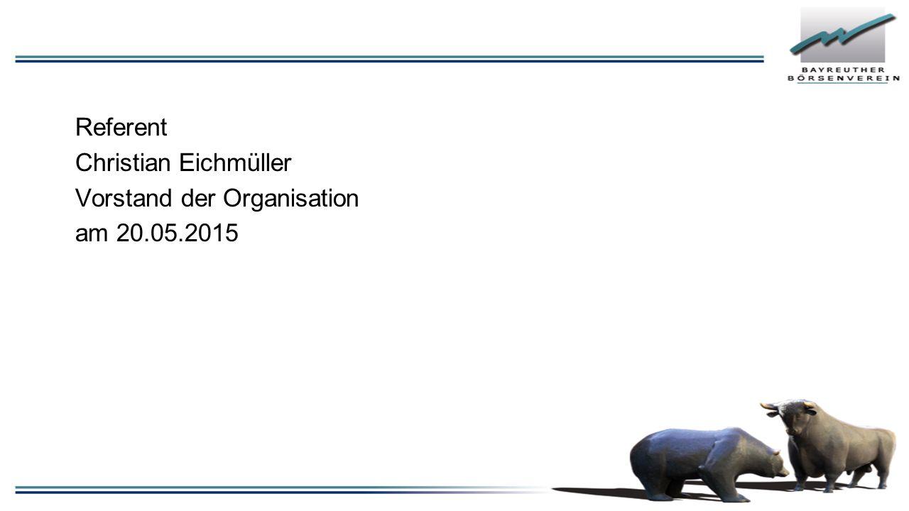 Referent Christian Eichmüller Vorstand der Organisation am 20.05.2015