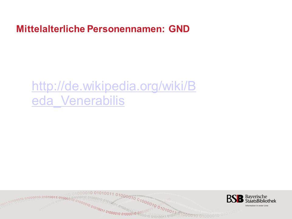 http://de.wikipedia.org/wiki/B eda_Venerabilis