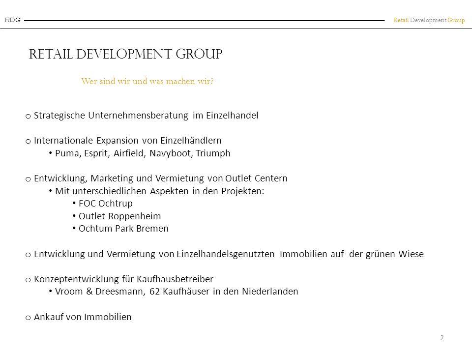 Retail Development Group Kaufkraft Beispiel F actory O utlet C enter Ochtrup 13 Münsterland Kaufkraftkennziffer: 111,5