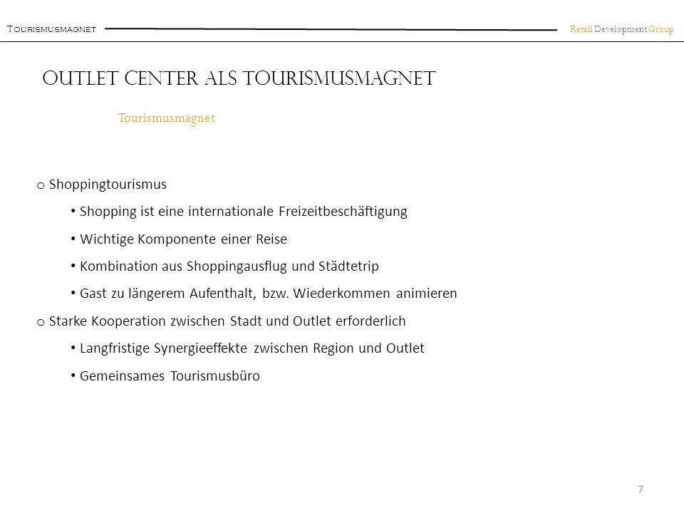 Retail Development Group FOC Königswinter Beispiel: F actory O utlet C enter Königswinter 18