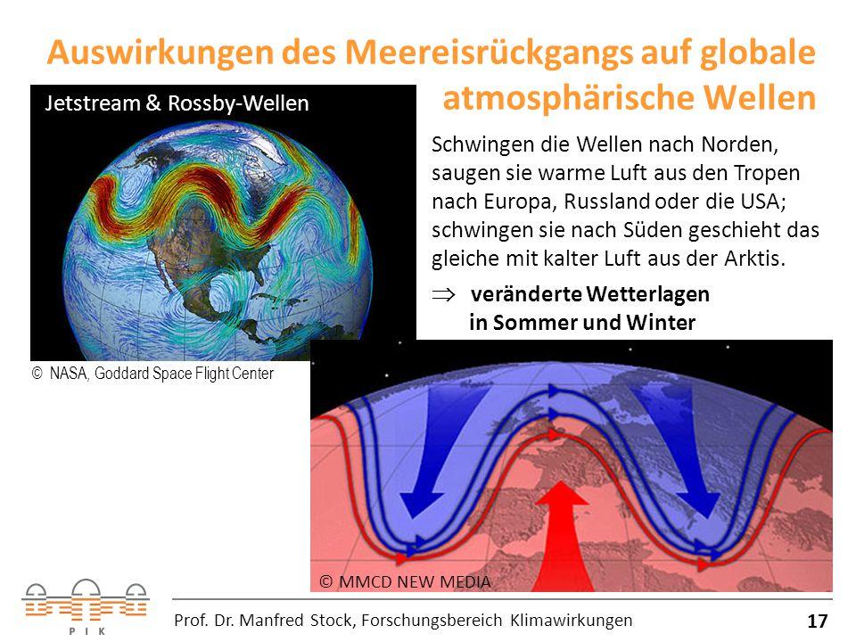 Auswirkungen des Meereisrückgangs auf globale atmosphärische Wellen 17 Prof.