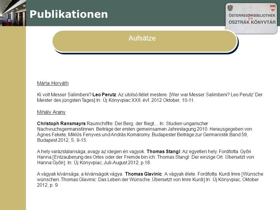 Publikationen Aufsätze Márta Horváth Ki volt Messer Salimbeni.