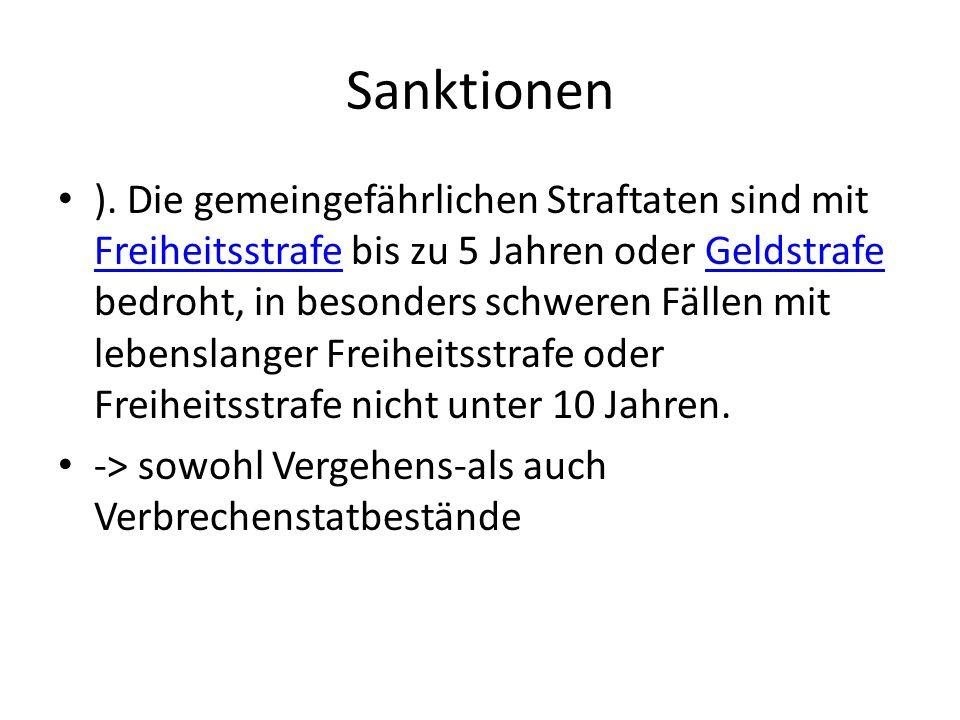 Sanktionen ).
