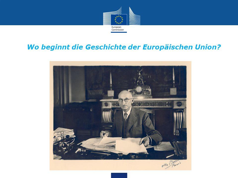… die europäische Gemeinschaft für Kohle und Stahl (EGKS) 1951…