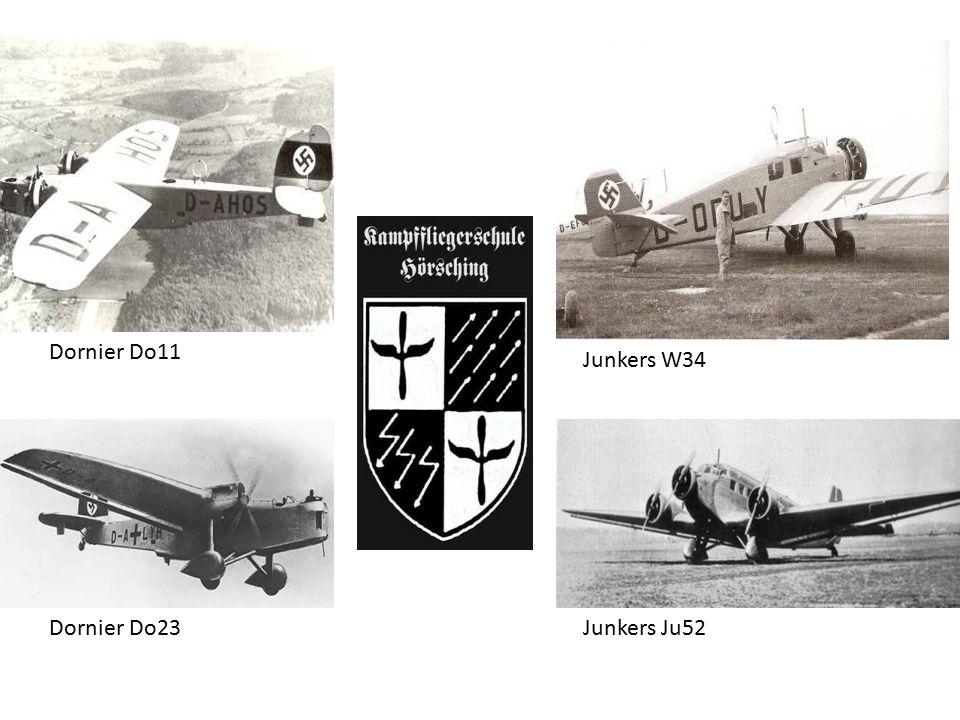 Dornier Do11 Dornier Do23 Junkers W34 Junkers Ju52