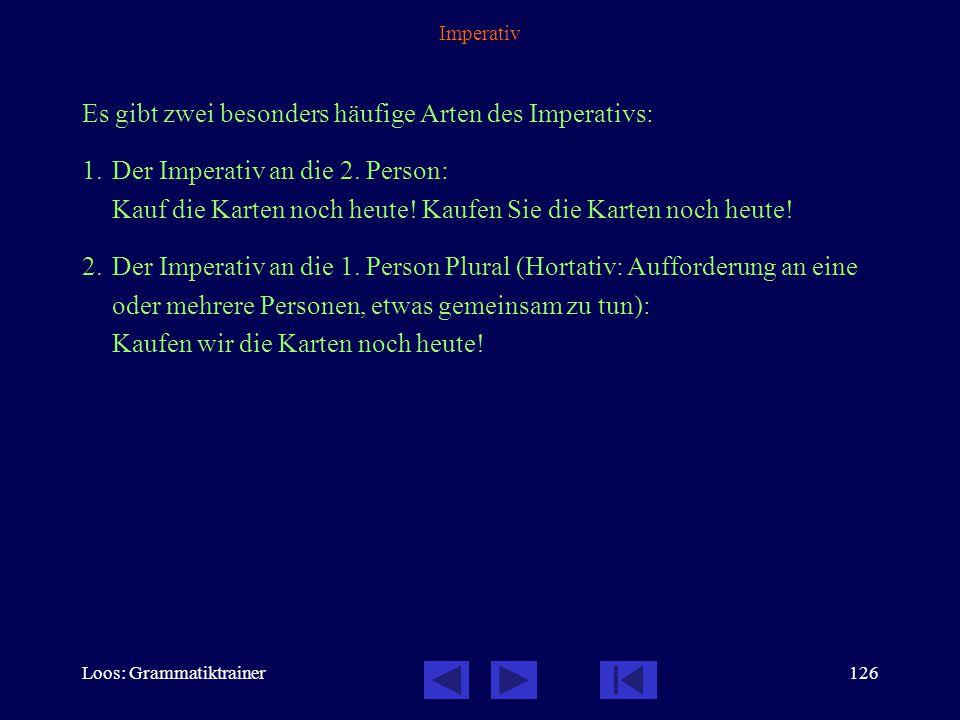 Loos: Grammatiktrainer125