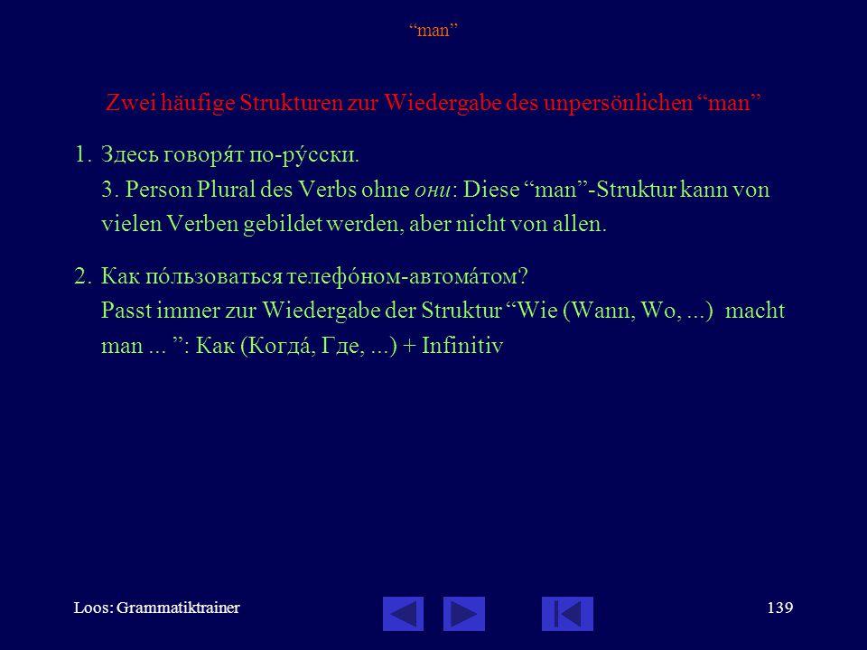 Loos: Grammatiktrainer138