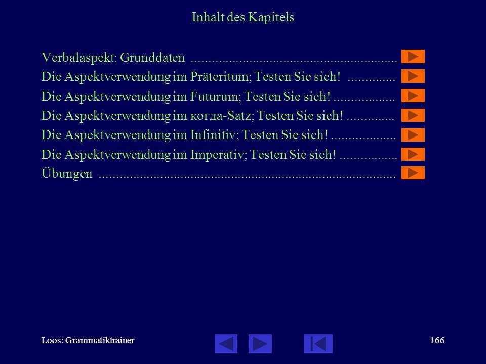 Loos: Grammatiktrainer165