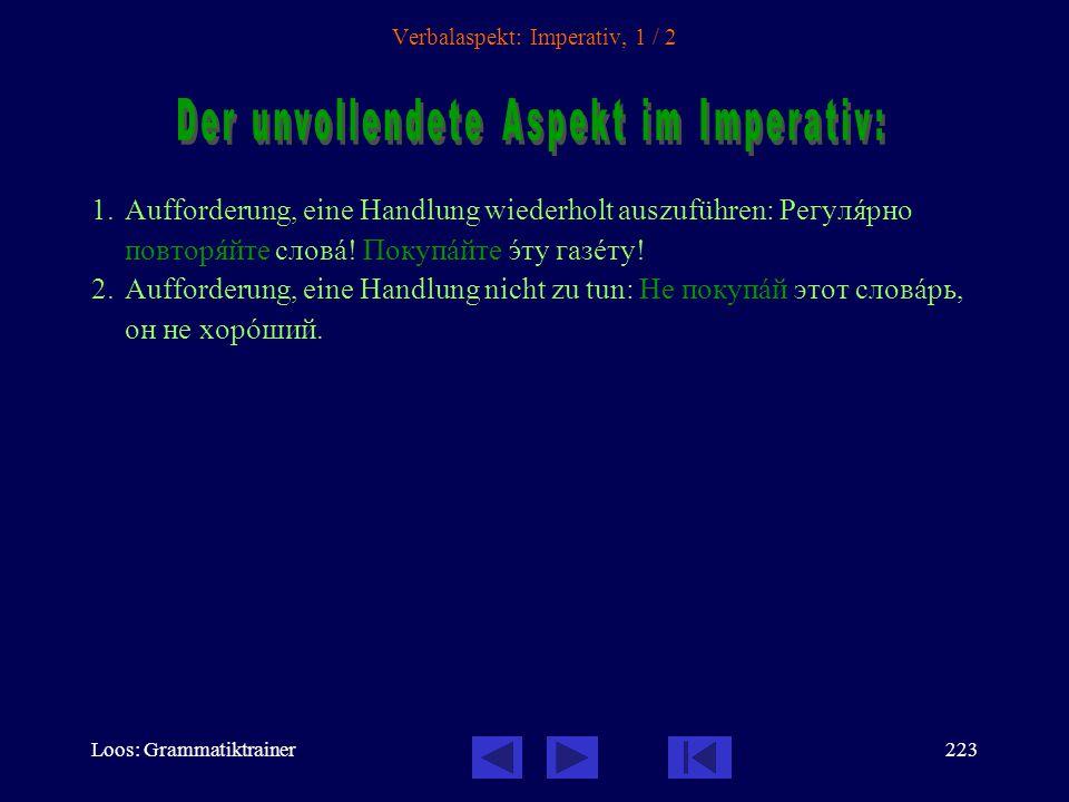 Loos: Grammatiktrainer222