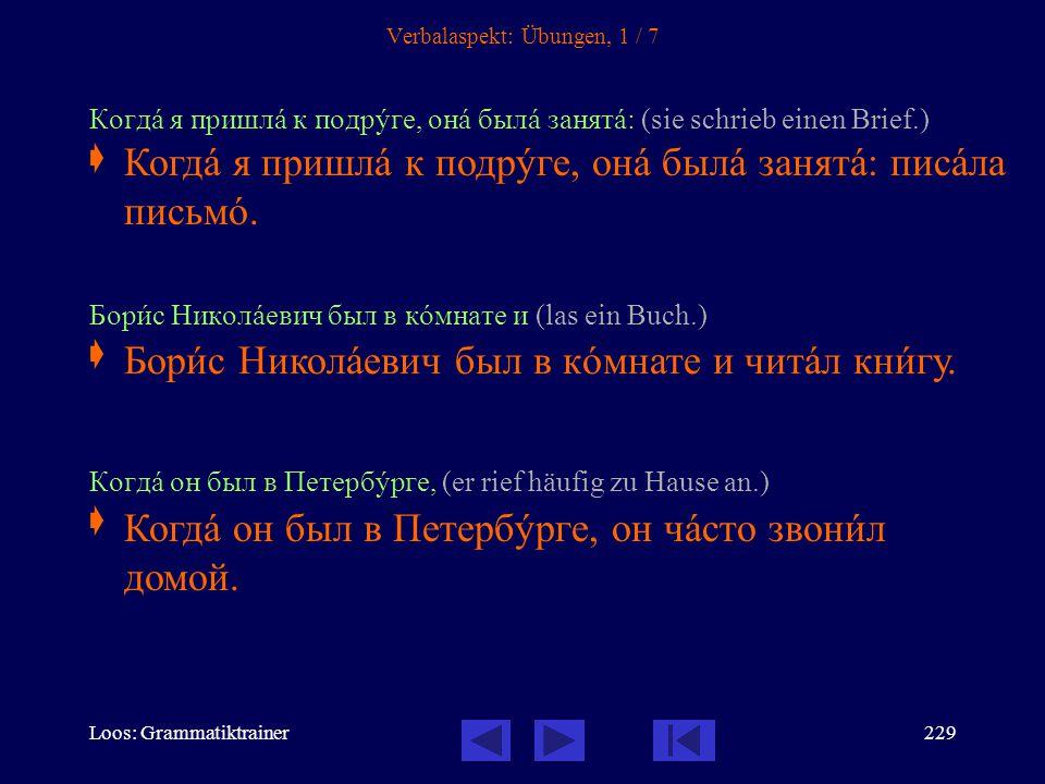 Loos: Grammatiktrainer228