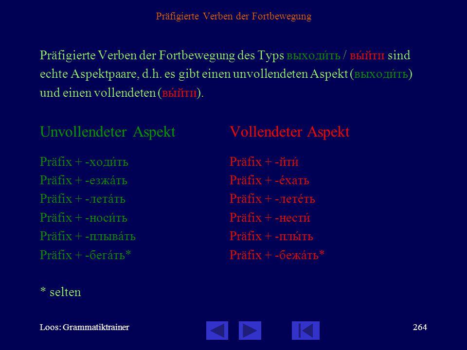 Loos: Grammatiktrainer263