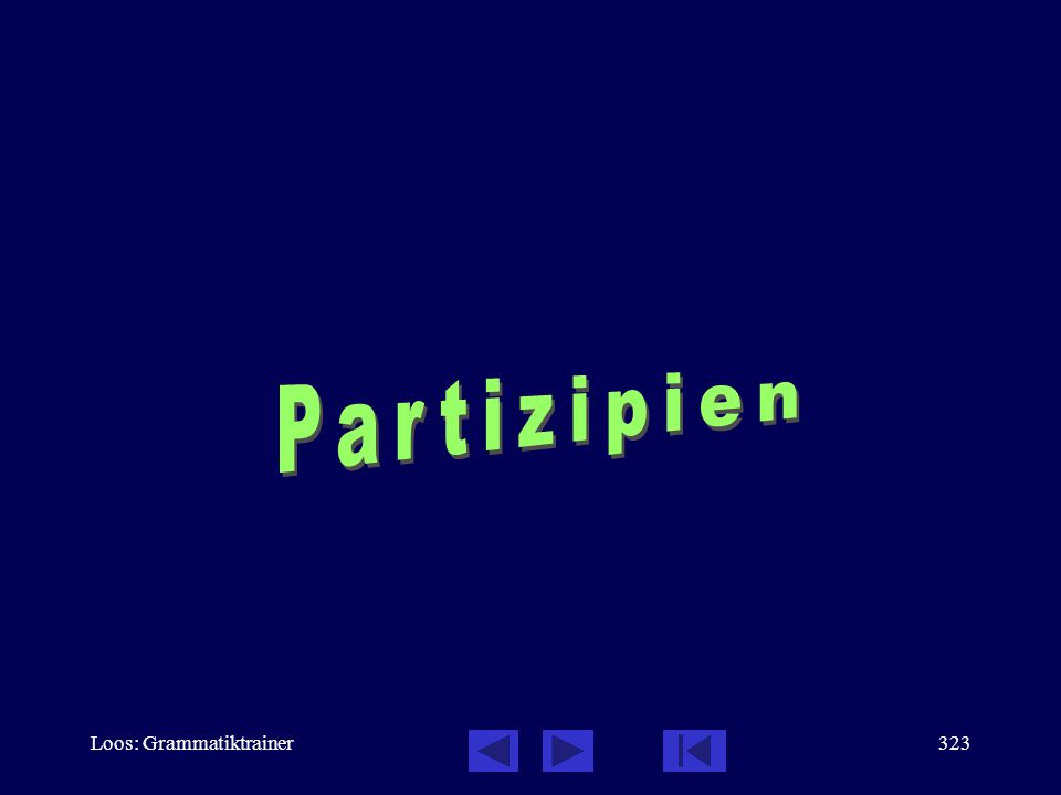Loos: Grammatiktrainer322 Verben der Fortbewegung: Übungen, 18 / 18 –Что ты вчерà дåлал? (  ) – Я бåгал..