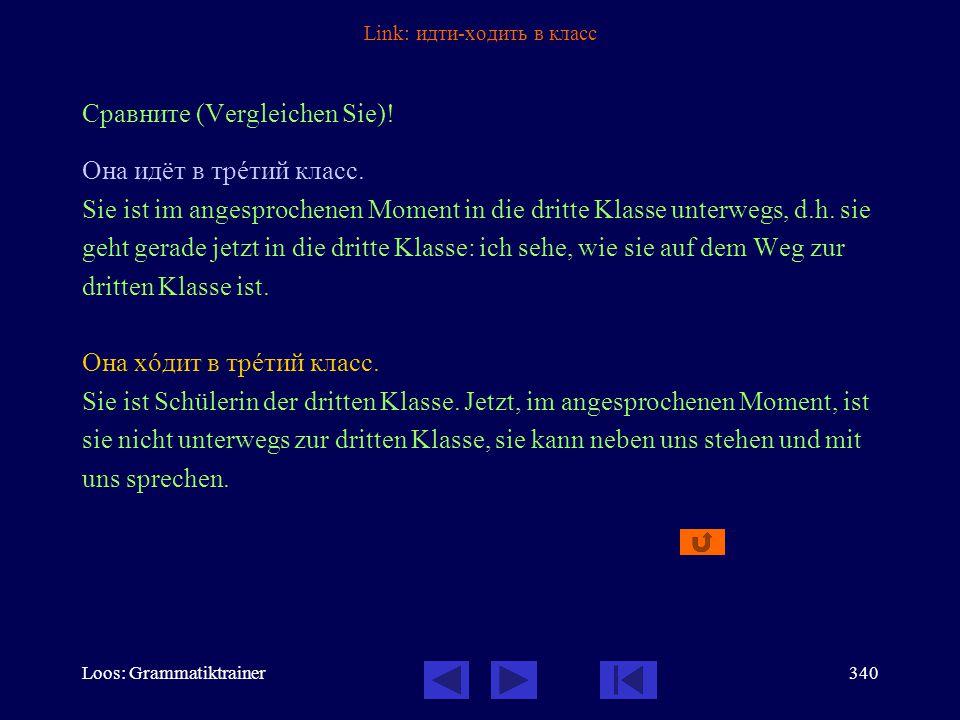 Loos: Grammatiktrainer339 Link: Verbalaspekt - Infinitiv Сравнèте (Vergleichen Sie)! (1)Здесь он хîчет говорèть тîлько по-рóсски. (2)Я хочó сказàть ва