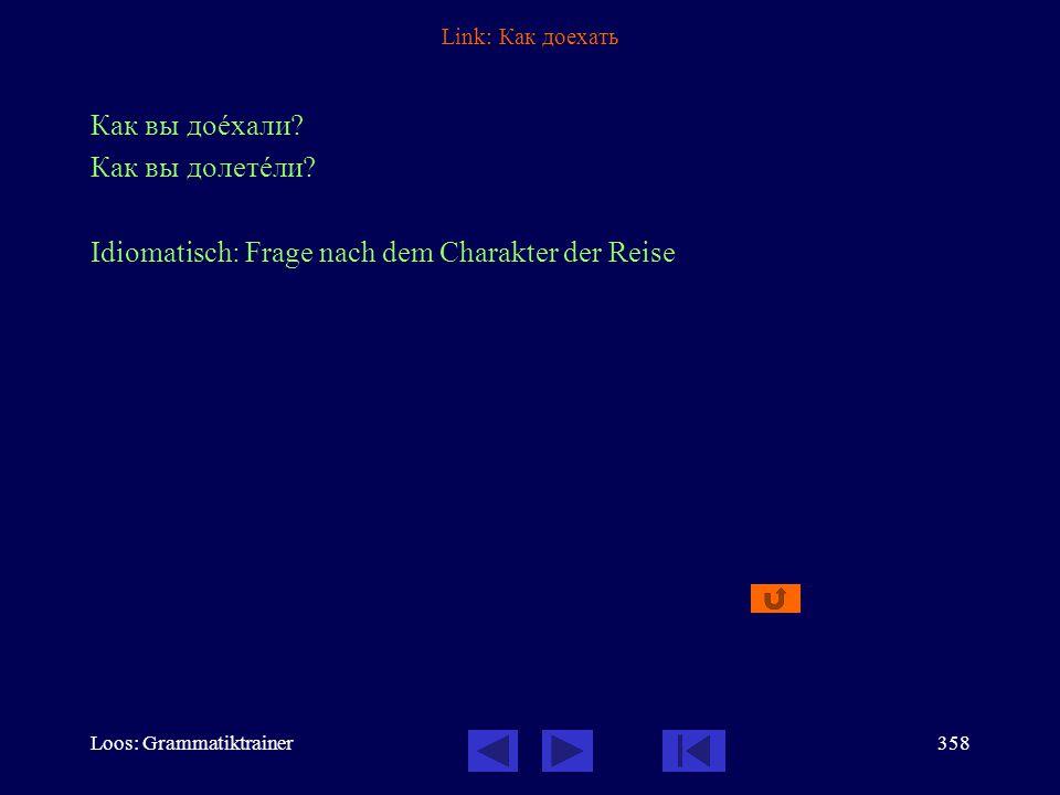 Loos: Grammatiktrainer357 Link: Он вышел К сожалåнию, он тîлько что вûшел.