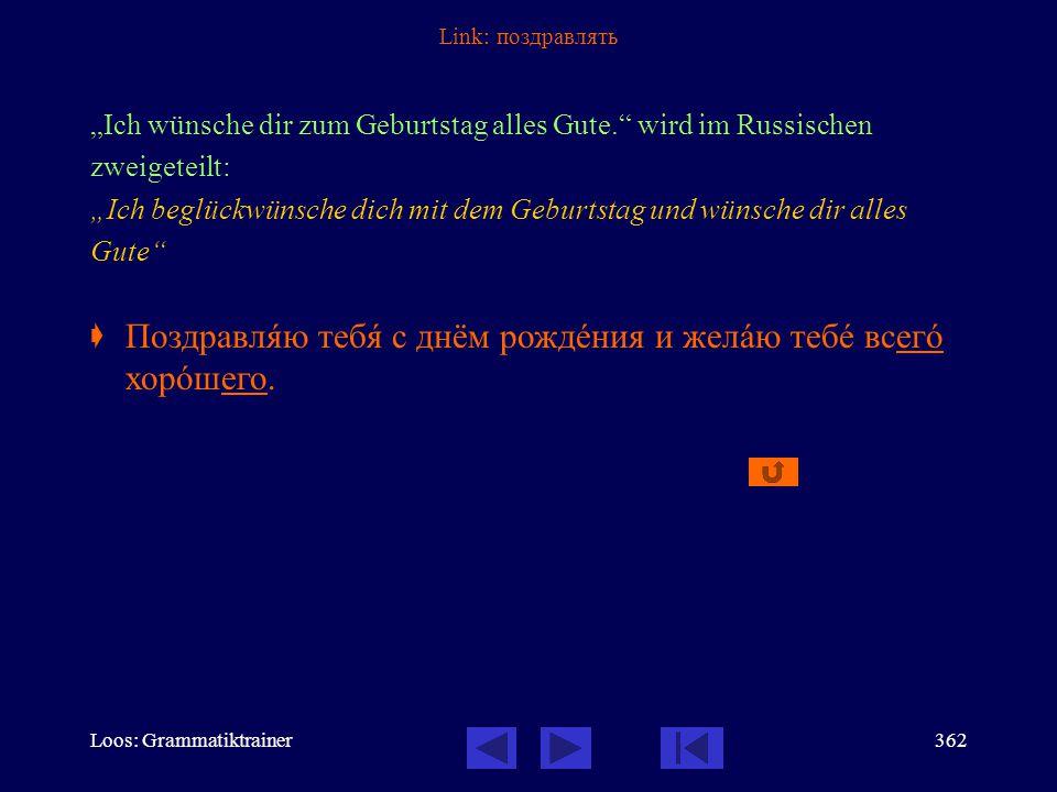 Loos: Grammatiktrainer361 Link: beantworten Die Struktur «eine Frage beantworten» kann nur mit «отвечàть / отвåтить на вопрос» wiedergegeben werden: E