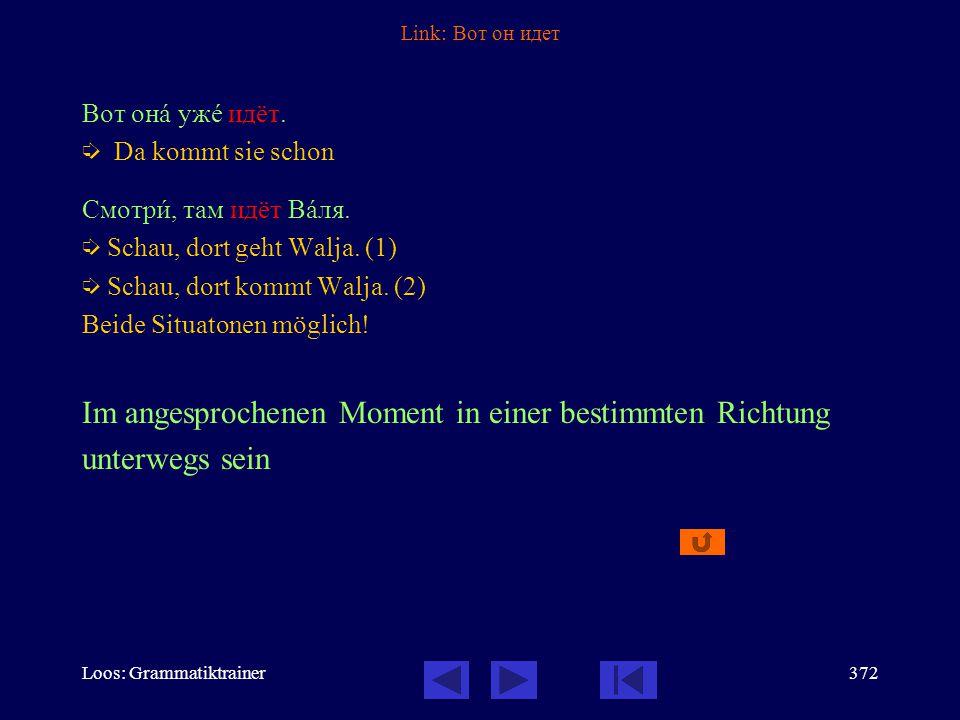 Loos: Grammatiktrainer371 Link: ехать час На рабîту я åду сîрок минóт.