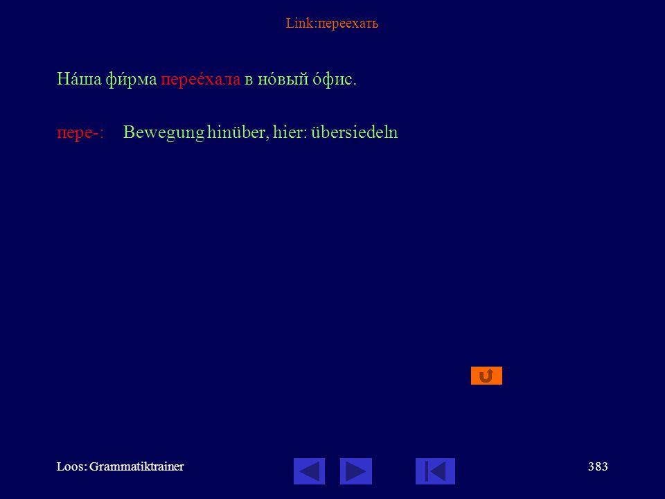 Loos: Grammatiktrainer382 Link: Как дойти Как дойтè до музåя? Idiomatisch: Wie kommt man...? Это недалекî. Дойдèте до перекрёстка, повернèте напрàво и