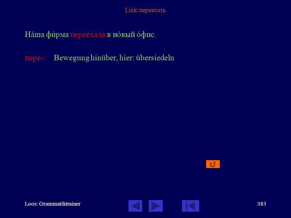 Loos: Grammatiktrainer382 Link: Как дойти Как дойтè до музåя.