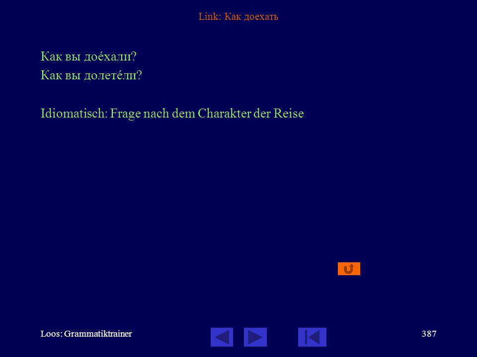 Loos: Grammatiktrainer386 Link: Он вышел К сожалåнию, он тîлько что вûшел.