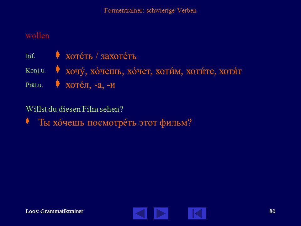 Loos: Grammatiktrainer79 Formentrainer: schwierige Verben in Erfahrung bringen, erfahren; sich erkundigen; erkennen Inf.  Konj.u.  Konj.v.  Imp.u.