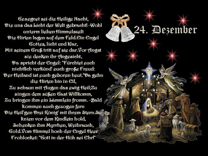 23. Dezember Morgen, Kinder, wird's was geben, morgen werden wir uns freuen; welch ein Jubel, welch ein Leben wird in unserm Hause sein! Einmal werden